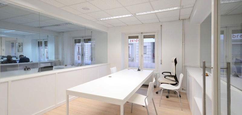 Modern office with white furniture
